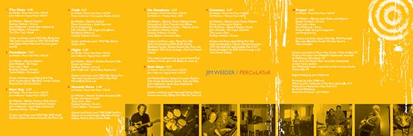 Jim Weider / Percolator CD
